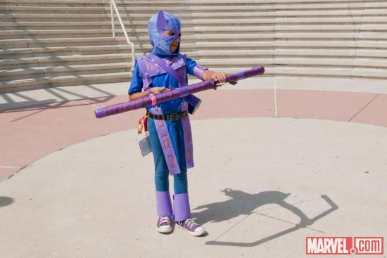 SDCC 2012: Hawkeye Costumer at the Marvel Gathering
