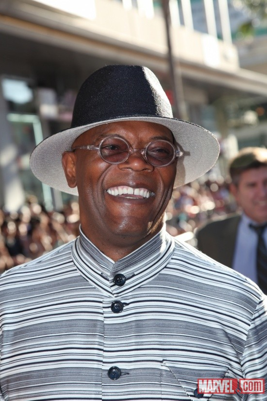 Samuel L. Jackson on the Captain America: The First Avenger red carpet