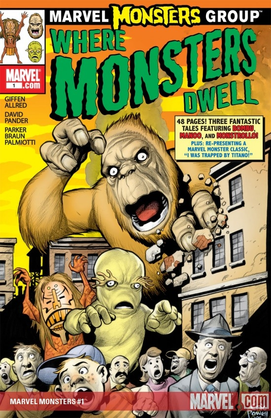 MARVEL MONSTERS (2007) #1 COVER