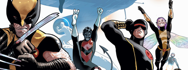 Image Featuring Cyclops, Iceman, Nightcrawler