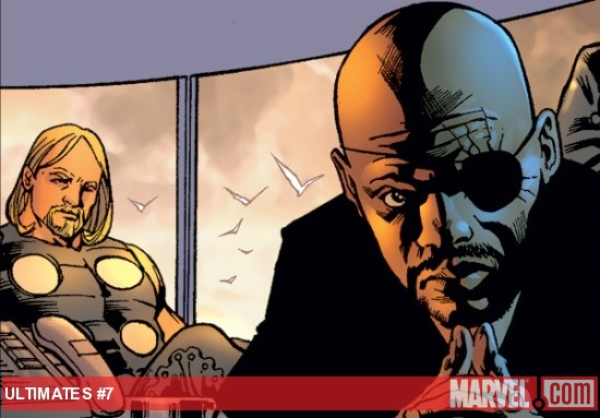 Ultimate Thor and Nick Fury