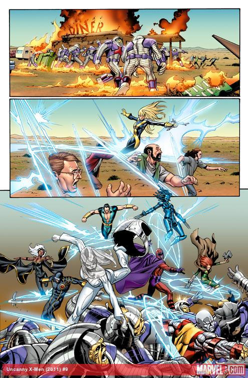 Uncanny X-Men (2011) #9 preview art by Carlos Pacheco