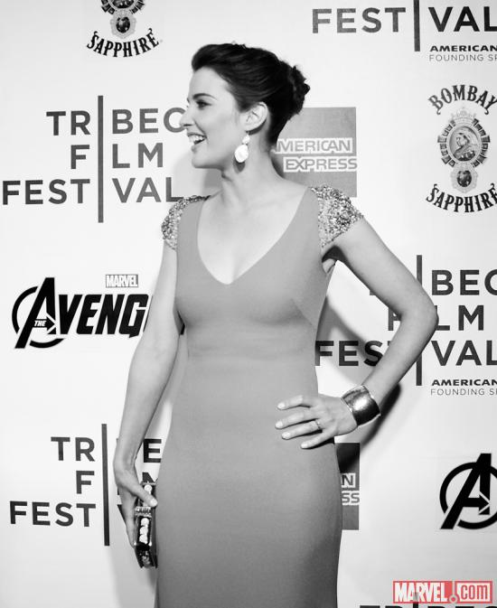 Cobie Smulders at the Tribeca Film Festival screening of Marvel's The Avengers