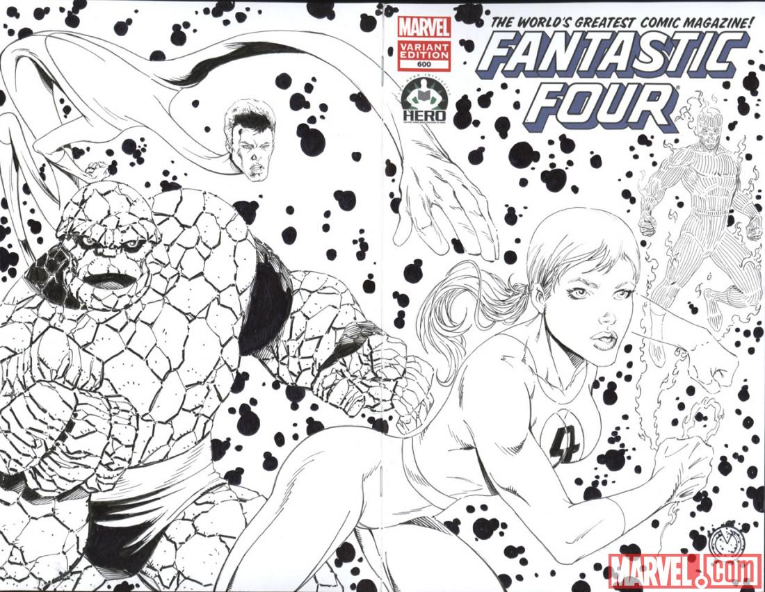 Fantastic Four #600 Hero Initiative variant cover by Marat Mychaels