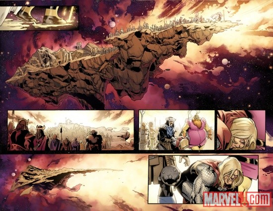 Fear Itself #2 preview art by Stuart Immonen