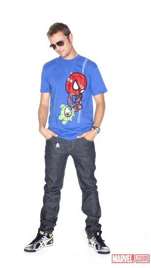 tokidoki X Marvel Men's Spider-Man T-Shirt