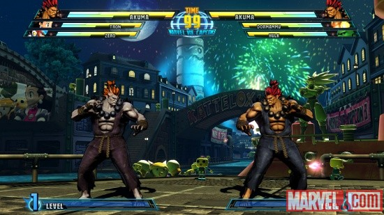 Marvel vs. Capcom 3 screenshot: Akuma vs. Akuma