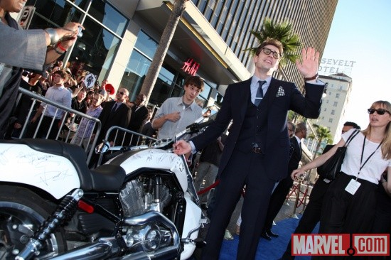 Chris Evans at the Captain America: The First Avenger world premiere