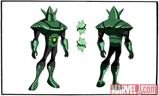Final color art for Whirlwind from 'The Avengers: Earth's Mightiest Heroes!'