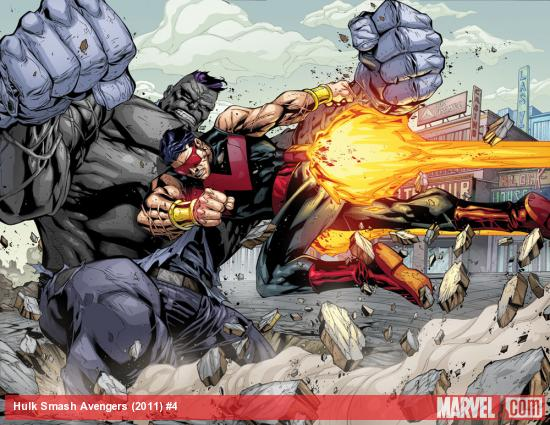 Hulk Smash Avengers #4 preview art by Agustin Padilla