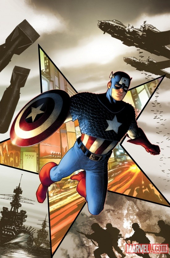 Captain America (2011) #1 cover by Steve McNiven