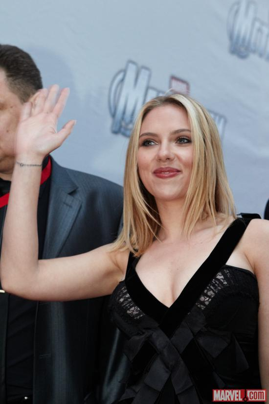 Scarlett Johansson at the Moscow premiere of Marvel's the Avengers