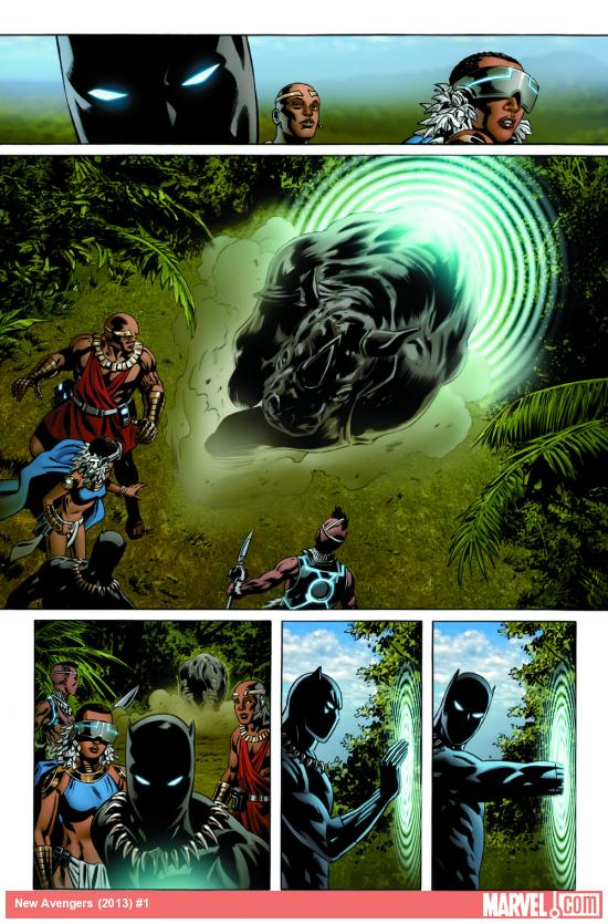 New Avengers (2013) #1 preview art by Steve Epting
