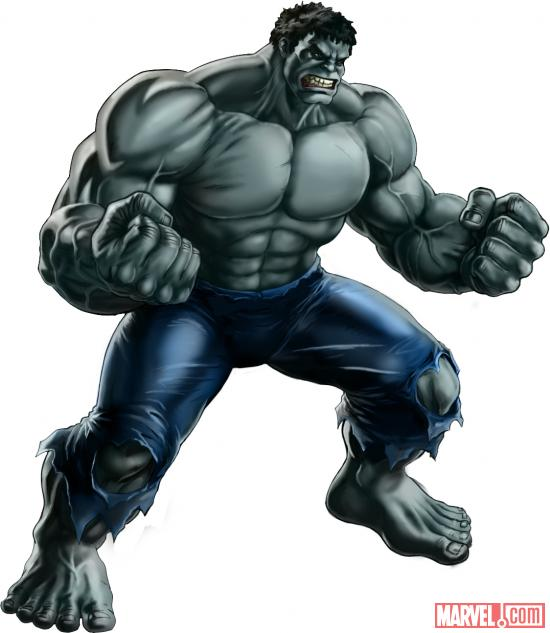 Hulk (alternate costume) character model from Marvel: Avengers Alliance