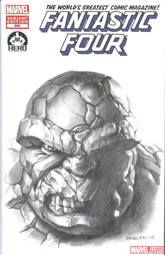 Fantastic Four #600 Hero Initiative variant cover by Rodolfo Migliari