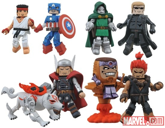 Marvel vs. Capcom 3 Minimates Wave 3 - Toys R Us assortment