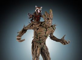 Gentle Giant Ltd. Rocket and Groot Statue