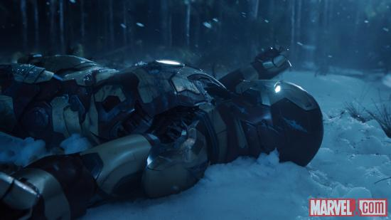 A scene from Iron Man 3