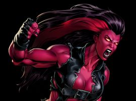 Red She-Hulk in Marvel: Avengers Alliance
