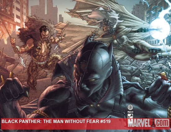 Black Panther: The Man Without Fear #519 & #520 covers by Simone Bianchi