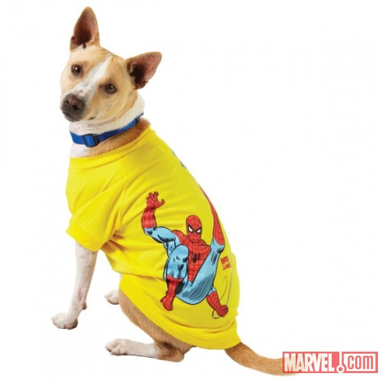 Spider-Man Yellow Dog Tee by Fetch available at PetSmart