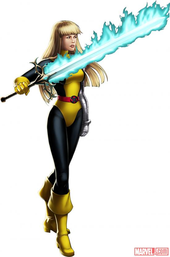 Magik (alternate costume) character model from Marvel: Avengers Alliance