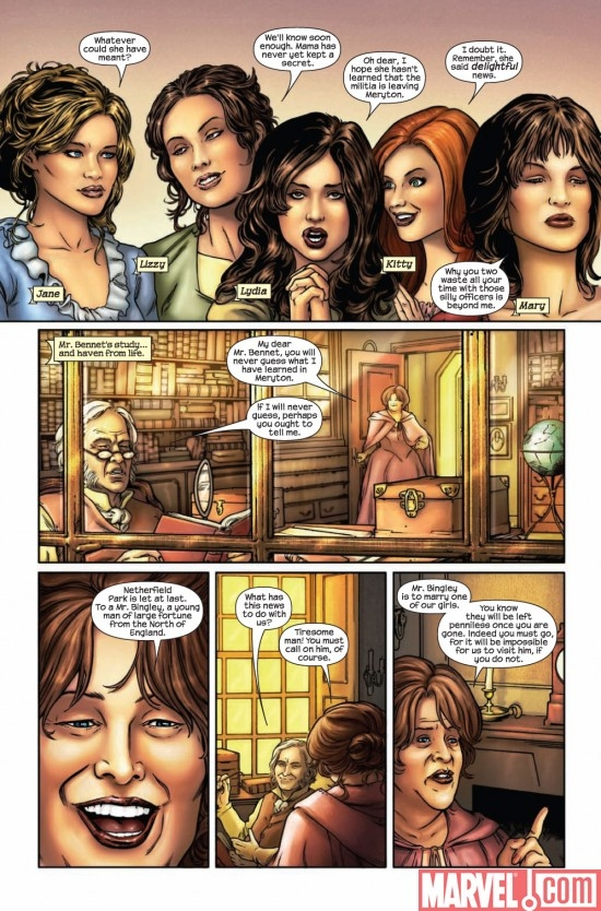 PRIDE & PREJUDICE #1 preview page 3
