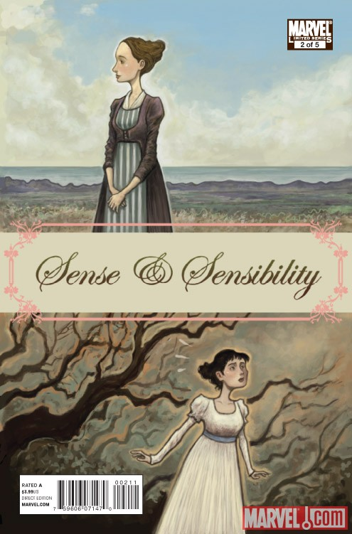 SENSE &amp; SENSIBILITY #2 cover by Sonny Liew