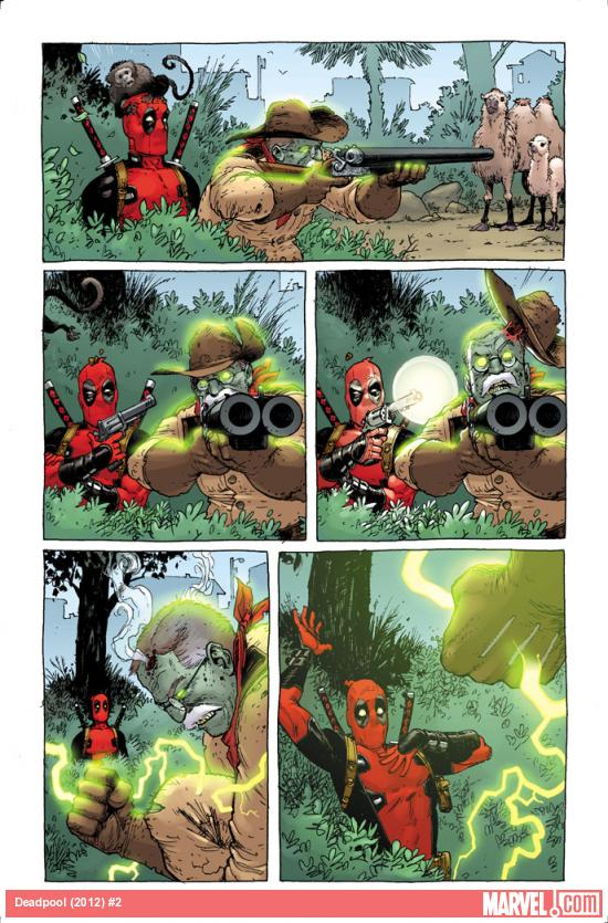 Deadpool (2012) #2 preview art by Tony Moore