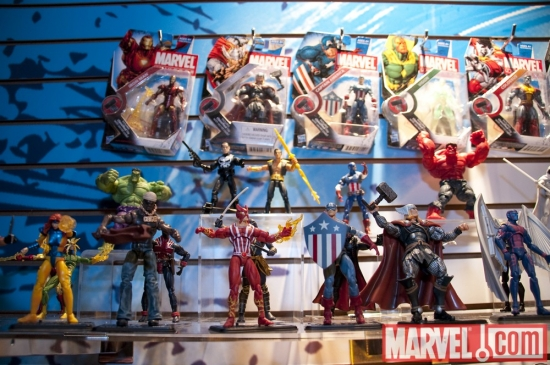 Marvel Universe 3.75'' Action Figures at the Hasbro Showroom, Toy Fair 2010