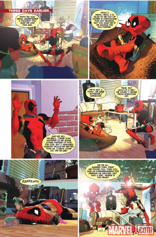PRELUDE TO DEADPOOL CORPS #5 Art by Kyle Baker