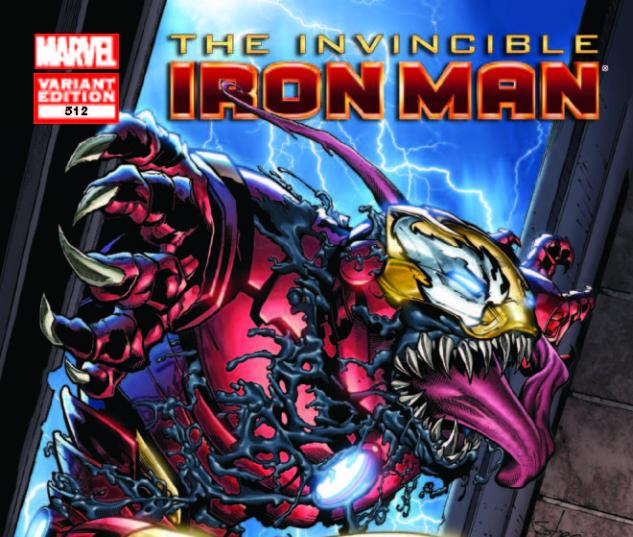 INVINCIBLE IRON MAN 512 VENOM VARIANT