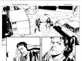 Black & white THE STAND: AMERICAN NIGHTMARES #3 preview art by Mike Perkins
