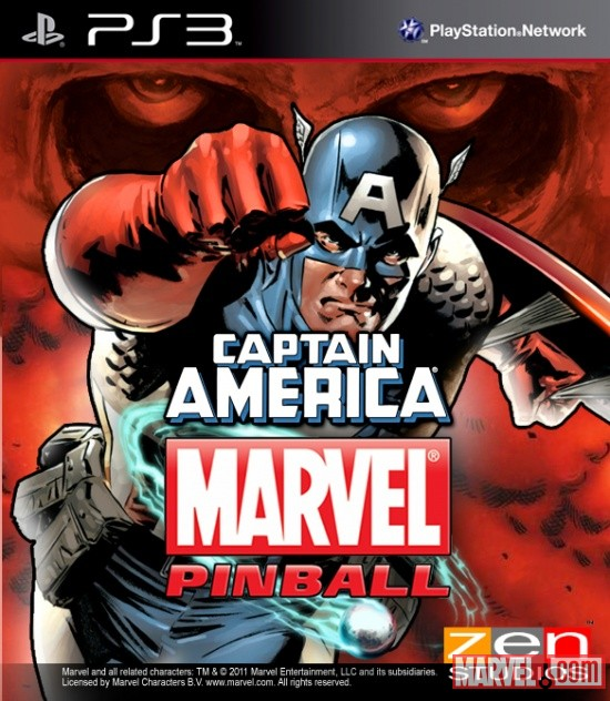 Captain America Joins Marvel Pinball