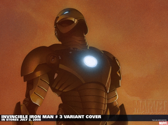 Invincible Iron Man (2008) #3 (CHAREST (50/50 COVER)) Wallpaper