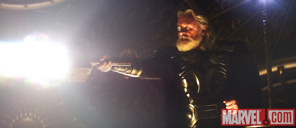 Anthony Hopkins stars as Odin in Thor