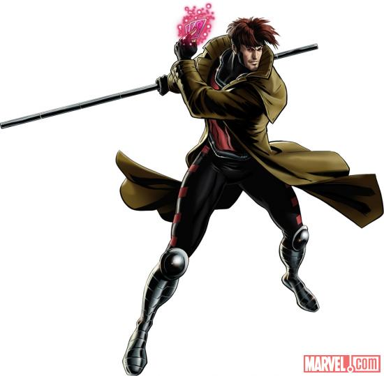 Gambit character model from Marvel: Avengers Alliance