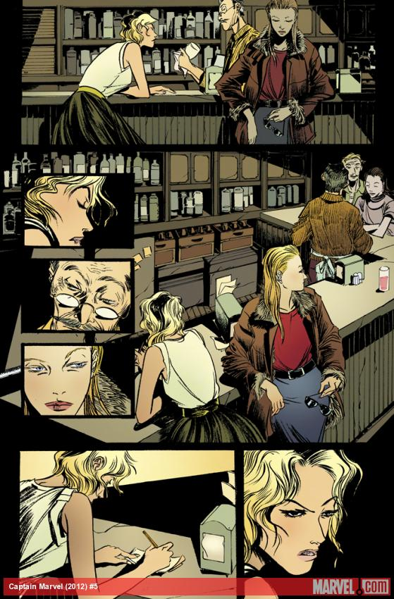 Captain Marvel (2012) #5 preview art by Emma Rios