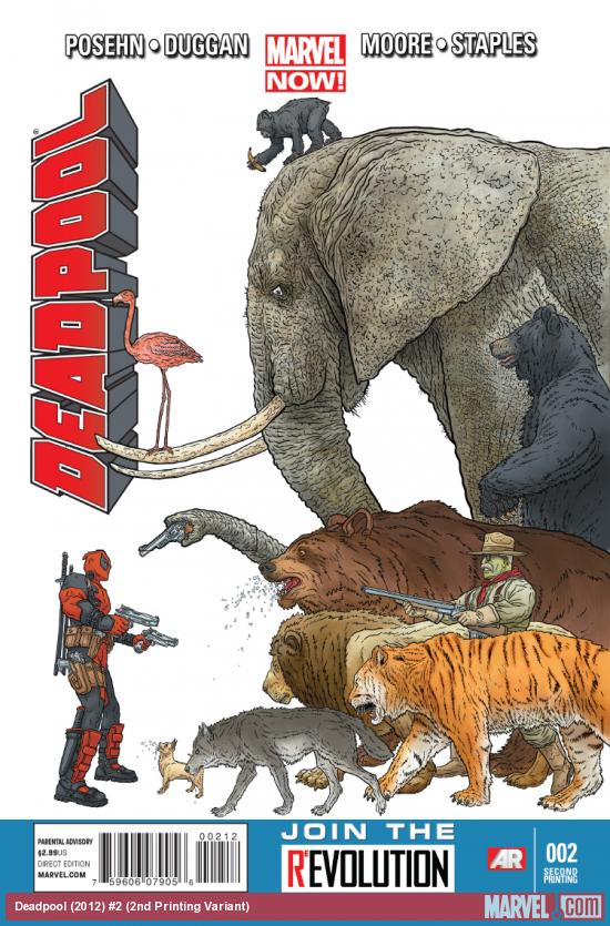 cover from Deadpool (2012) #2 (2ND PRINTING VARIANT)