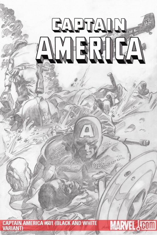 CAPTAIN AMERICA #601 (BLACK AND WHITE VARIANT)
