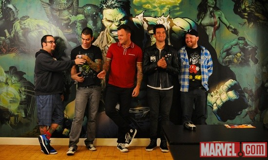 New Found Glory at Marvel HQ in NYC