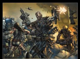 Image Featuring Archangel, Cable, Psylocke, Wolverine