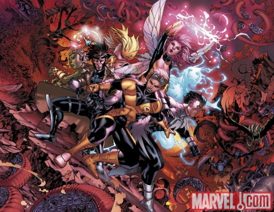 Image Featuring Cannonball, Dazzler, Gambit, Northstar, X-Men, Pixie