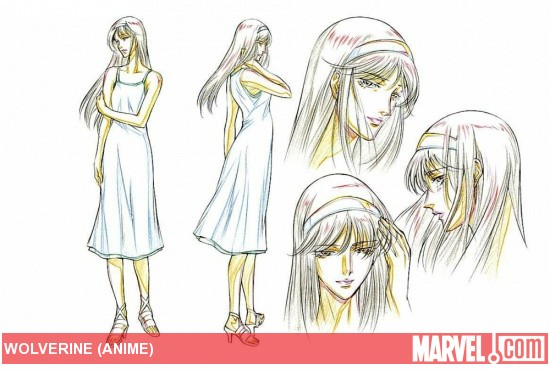 Mariko Concept Art from 'Wolverine' Anime