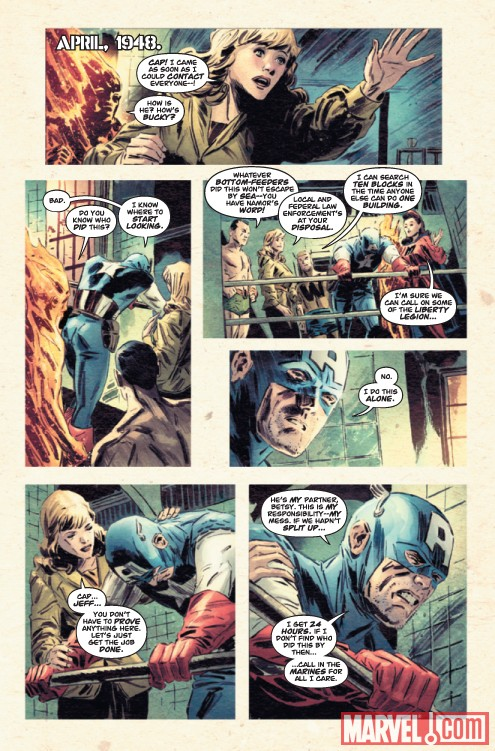 CAPTAIN AMERICA: PATRIOT #3 preview page by Mitch Breitweiser
