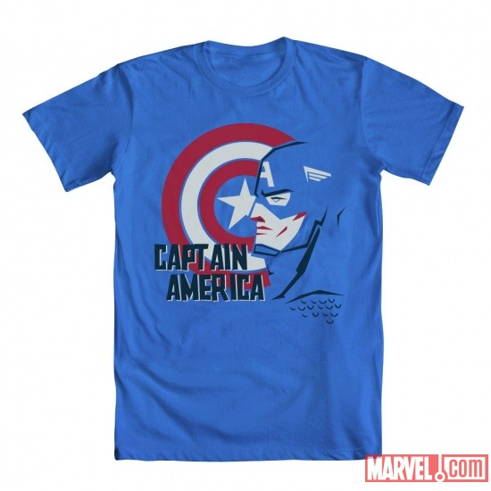 Captain America Bass Tee by Mighty Fine