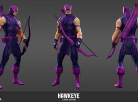 Hawkeye character render from Marvel Heroes