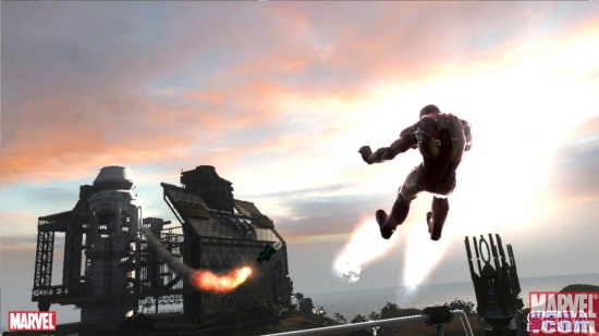 Iron Man takes a bump in the Mark III armor