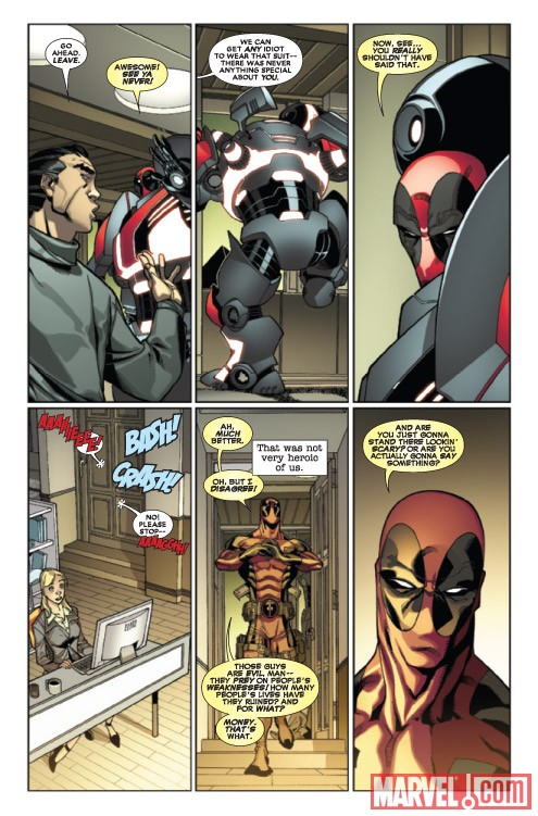 Deadpool #26 preview art by Carlo Barberi