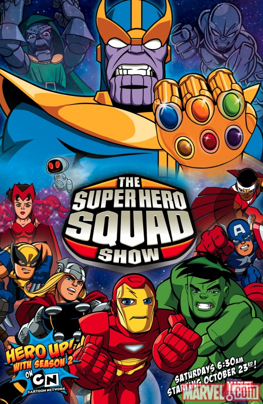Image Featuring Captain America, Falcon, H.E.R.B.I.E., Hulk, Iron Man, Scarlet Witch, Thanos, Thor